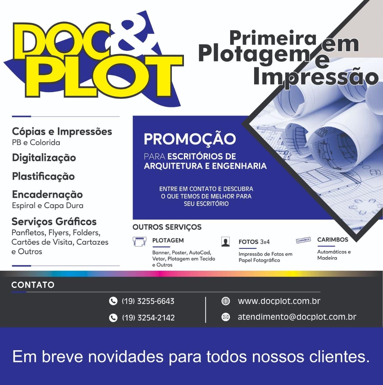 Doc & Plot gráfica em Campinas, localizada no cambuí com diversos serviços gráficos